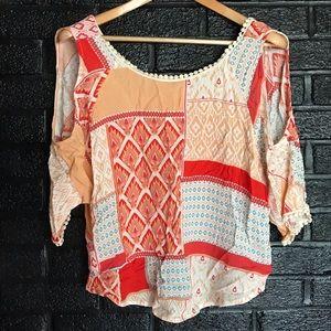 Alya BoHo  blouse size small
